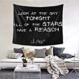 ZGRNPA Lil Peep Star Shopping Lyrics Starry Background Boutique Tapestry Wall Hanging Tapestry Vintage Tapestry Wall Tapestry Micro Fiber Peach Home Decor 150cm x 200 cm