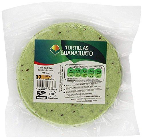 Grüne Maistortillas mit Nopal-Kaktus 15cm, 12 St. - glutenfrei