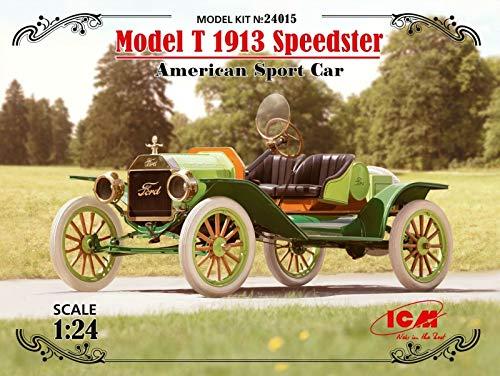 ICM 1/24 Scale Model T 1913 Speedster, American Sport Car - Plastic Car Model Building Kit #24015