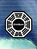 Dharma Wheel Vinyl Decals Sticker (Two Pack) | Cars Trucks Vans Walls Laptops Cups | Printed | 2-4 Inch Decals | KCD969
