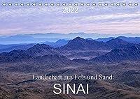 Sinai - Landschaft aus Fels und SandCH-Version (Tischkalender 2022 DIN A5 quer): Der Sinai, Fels- und Sandwueste mit abwechslungsreicher atemberaubender Landschaft. (Monatskalender, 14 Seiten )