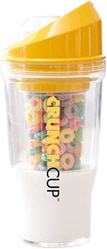The CrunchCup A Portable Cereal Cup No Spoon No Bowl It S Cereal On The Go