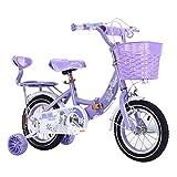 ZMDZA Bicicletas de los niños, los niños del Marco Acero de la Bici Bicicleta de los niños 12 14 16 Pulgadas con Ruedas de Entrenamiento for niños 2-10 años, Bicicleta Plegable (Color : B)