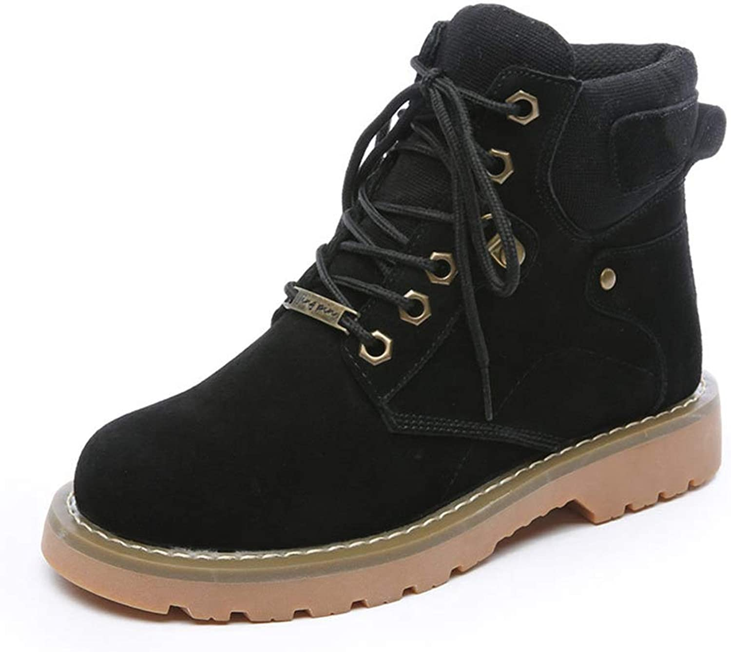 Women's Lace-Up Ankle Work Combat Ladies Booties Martin Boots