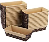 Lawei 30 Pack Paper Loaf Pan - Rectangle Mini Loaf Pan 6 x 2.5 x 2 inch Disposable Bread Pan for Baking