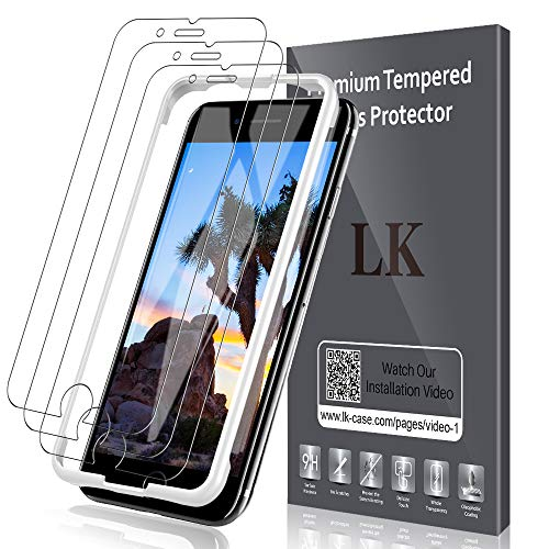 LK für iPhone SE 2020 Panzerglas, 3 Stück Schutzfolie für iPhone SE 2 Generation/iPhone 8/iPhone 7, HD Klar Schutz, 9H Härte Panzerglasfolie, [Anti-Kratzen] [Blasenfrei] [Einfacher Montage]