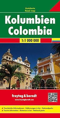 Kolumbien, Autokarte 1:1 Mio.: Wegenkaart 1:1 000 000 (freytag & berndt Auto + Freizeitkarten)