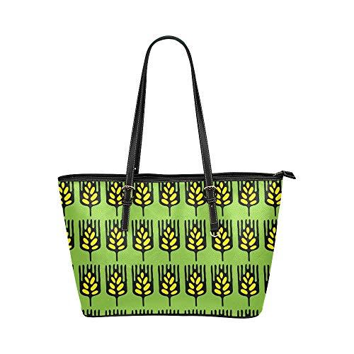 N\A Zipit Umhängetasche Weizen Crops Handgemalte Ideen Leder Hand Totes Tasche Kausale Handtaschen Reißverschluss Schulter Organizer für Damen Mädchen Damen Umhängetaschen für Frauen