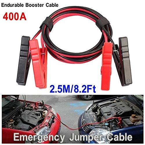 Cable de cobre de la batería de la batería de la batería del automóvil de 2.5 m del automóvil Cable de cobre de la batería de la abrazadera del clip alambre del puente del cable del teleférico