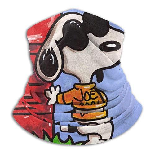 Snoopy Dust - Pasamontañas unisex multifuncionales a prueba de polvo, para deportes al aire libre, 25,4 x 27,6 cm