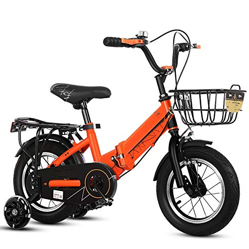 YumEIGE Fietsfiets voor kinderen, inklapbaar, 12 14 16 18 20 inch, framebreedte brede fiets, auto met trampoline, 4 kleuren voor 2-9 jaar verkrijgbaar