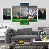 NC56 Modulare Bilder Home Wandkunst Leinwand Badminton