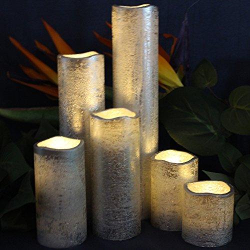 LED Lytes Flameless Timer LED Candles Slim Set of 6, 2