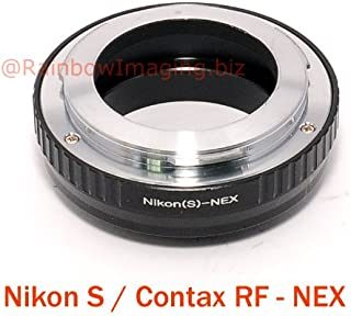 Fotasy Nikon S/Contax RF (Outer Bayonet) Rangerfinder Lens to Sony E-Mount Adapter, Compatible with Sony NEX-5T NEX-6 NEX-7 a3000 a3500 a5000 a5100 a6000 a6100 a6300 a6400 a6500 etca3000
