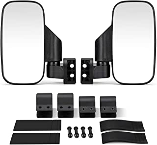 "kemimoto UTV Side Mirrors Compatible with Honda Pioneer Polaris RZR Ranger 900 1000 Can Am Kawasaki Mule Yamaha Rhino for 1.6"" - 2"" Roll Cage Shatter Proof Tempered Glass"