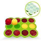 Congelar Silicona Bandeja Molde Contenedor Recipiente de Alimentos para Bebé