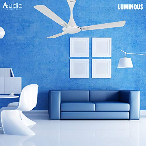 Luminous Audie 1200mm 70-Watt Ceiling Fan (Mirage White)