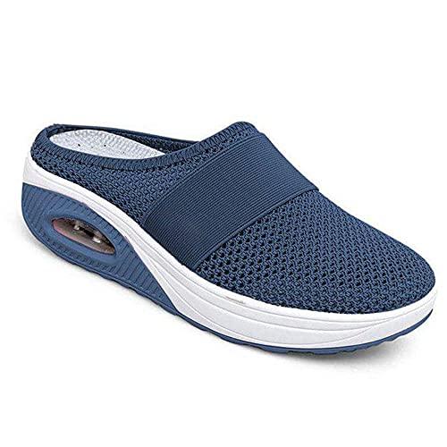 LQLQ Air Cushion Slip-On Walking Shoes, Women Diabetic Walking Shoes Air...