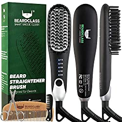 Beard straightener for men that makes a great gift for father's day or valentines day or a birthday. Christmas gift for man, men, guy.