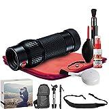 Leica Monovid 8x20 Monocular (Black) - Exclusive Outdoors Binoculars Kit