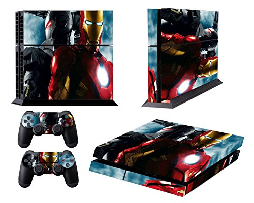 EBTY-Dreams Inc. - Sony Playstation 4 Original (PS4 Original) - Iron Man War Machine Marvel Universe Avengers Vinyl Skin Sticker Decal Protector