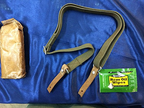 ESKS Chinese Military Issue SKS Ak47 Style Heavy Duty Canvas Leather Rifle Sling W Free rem Oil Wipe