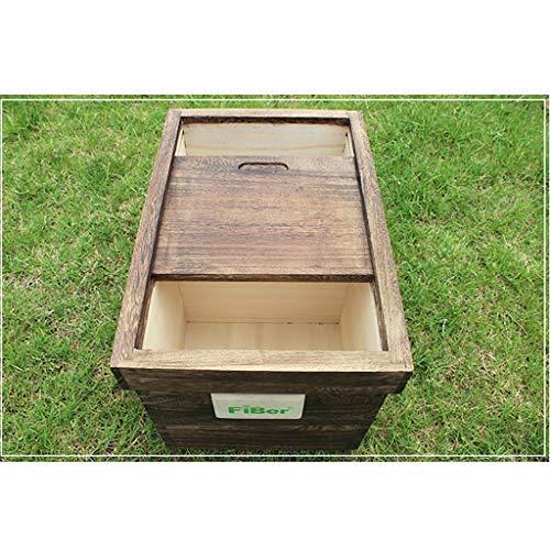 Heavy Duty Haustier Hund Katze Tier Trockenfutter Vorratsbehälter Box Bin mit Deckel 5L Eng anliegende Holzdeckel Wild Bird Seeds Vorratsdose Dosen Retro Vintage Style