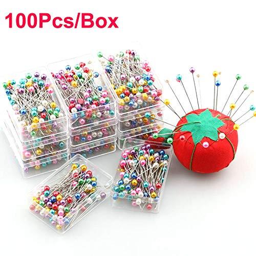 YH 100 Piezas/Caja Alfileres confección