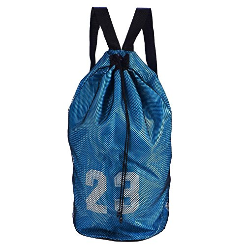 Baloncesto Fútbol Bolsa con Cordón Impermeable Malla Deporte Mochila de Almacenamiento
