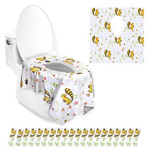 Copriwater AGPtEK Pacco da 20 Copri-Toilette Monouso Impermeabile, Soffice e Portatile, Copriwater perfetto per Adulti e Bambini