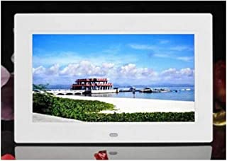 HUALEIYUAN AU 7 inches HD LCD Digital Photo Frame with Alarm Clock Slideshow MP3/4 Player Digital Frame (Color : White)