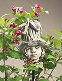 Blumenkind 'Glockenrebe', Betonguss, 20 cm, für Metallstäbe