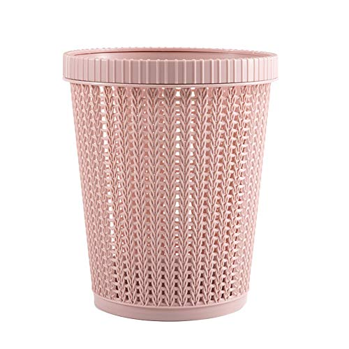 PerGrate Drop-Resistant and Durable Trash Can, Plastic Buckets for Household Self-Pumping Garbage Bags, Hollow Garbage Bin Storage Basket with Built-in Garbage Bag Box Coverless for Home
