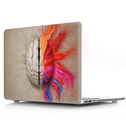 Funda rígida compatible con MacBook Pro de 13 pulgadas 2019/2018/2017/2016 con/sin Touch Bar Modelo A1989/A1706/A1708, AJYX Matte plástico funda rígida Cover, ZY10 cerebro acuarela
