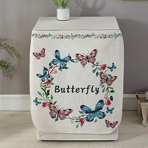 JRTILES Waschmaschinenbezug Protector Wasserdicht Outdoor- Frontlader Vollautomatischer Trommelwaschmaschinenbezug Stoff Staubdich, Schmetterlingsgirlande 60X60X83Cm