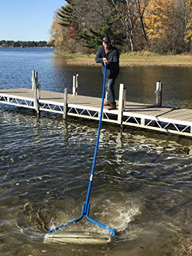 Beachroller -Weeds Muck Silt Gone! Lake Weed Removal Tool. New 2019 Model with Stainless Steel Blades