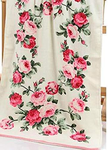 zlzty Juego de Toallas de baño, Toallas de baño de algodón Estampadas, Toallas de baño de algodón Egipcio, Toallas de baño de algodón Egipcio Extra Grande en Rosa