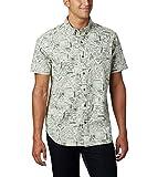 Columbia Men's Rapid Rivers Short Sleeve Shirt, Pixel Camp Supplies Print, X-Large