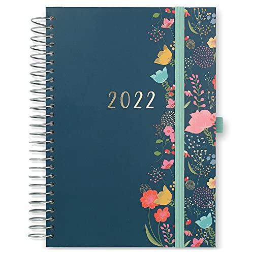 Boxclever Press Lebensplaner Kalender 2022 A5. Familienplaner 2022 mit...