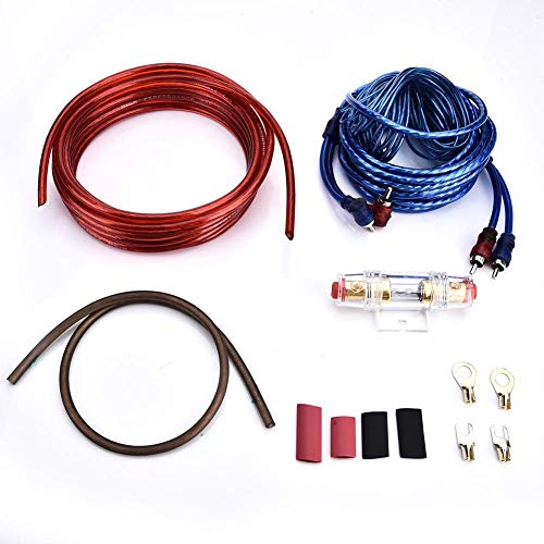 Wetour Car Audio Cable Cableado Subwoofer Amplificador Kit Amplificador de Coche portafusibles