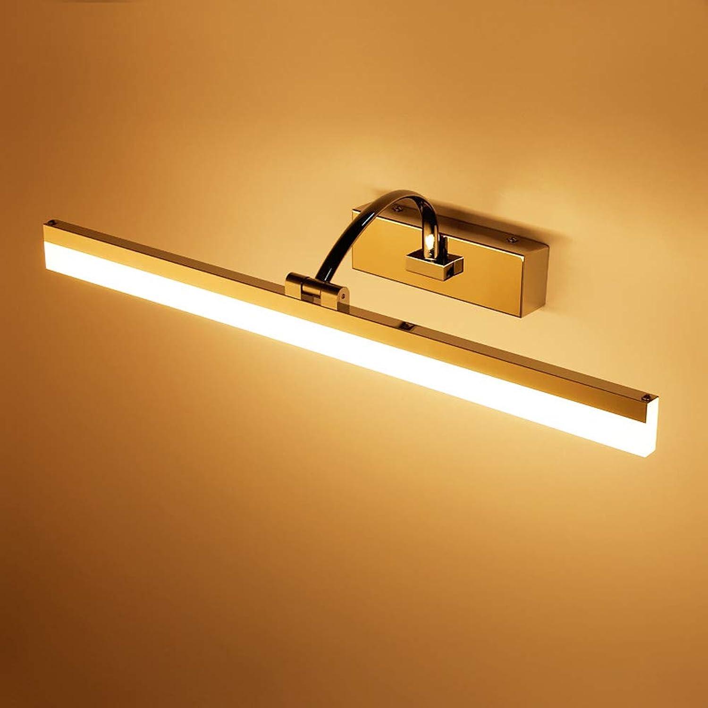 JINGD Einfache geführte Spiegel-Scheinwerfer, wasserdichtes und Anti-Fog-Badezimmer-Badezimmer-Spiegel-Kabinett-Licht