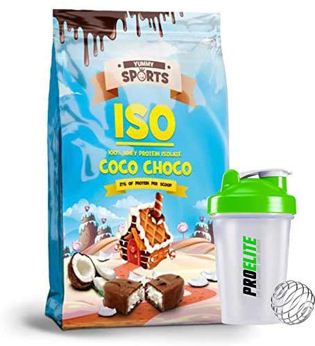 Yummy Sport Whey Protein Isolate 1KG Powder 95% ISO Zero Lactose & Gluten Free (Coco Choco)