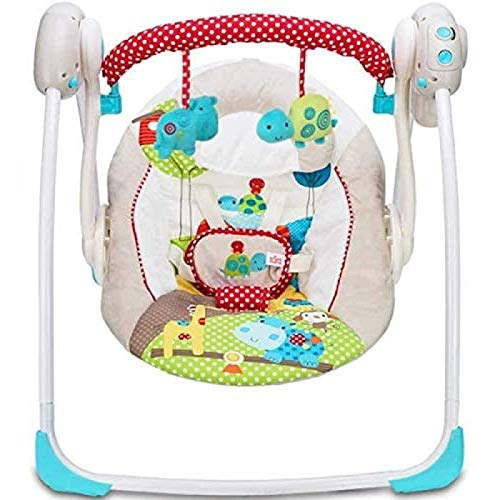 Silla de mecedora de bebé eléctrico Multifuncional Musical Swing Plegable Portátil Portátil Inteligente Swing Swing Asiento de Swing, Cradle Hammock para Recién Nacido WTZ012