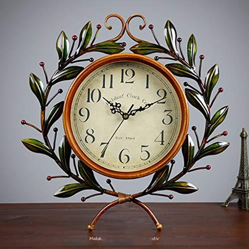 Horloge Salon Chambre calme Olive Branch Amour Horloge Maison créative Montre de Chambre American Country Retro Clock