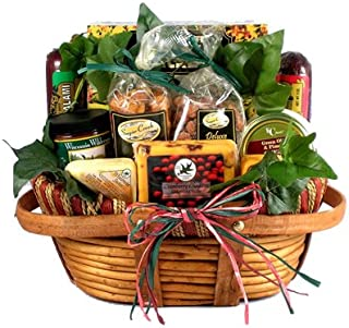 Gift Basket Village - Dad's Favorite, Cheese & Sausage Gift Basket for Dad - Makes A Great Father's Day Basket, (Medium) 6 lb