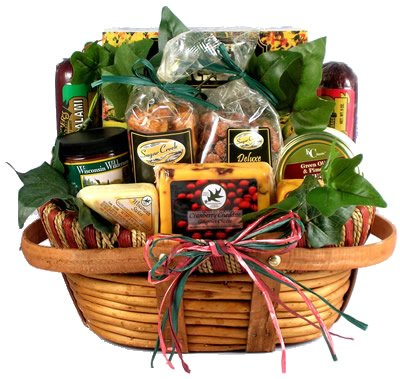 Gift Basket Village - Dad's Favorite, Cheese and Sausage Gift Basket for Dad - For Men Who Like Meat and Cheese - Makes a Great Father's Day Gift Basket or for Anytime of Year! (Medium) 6 pounds