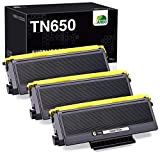 JARBO Compatible Toner Cartridge Replacement for Brother TN650 TN-650 TN620 TN580 TN-580 Toner Cartridges, 3 Black, for Brother HL-5370DW 5250DN 5340D 5240 Brother MFC-8890DW 8860DN 8480DN Printer