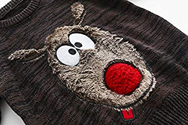 MOMOLAND Baby Toddler Boys Girls Christmas Xmas Cartoon Shaun The Sheep Color 60.7/% Cotton Sweater