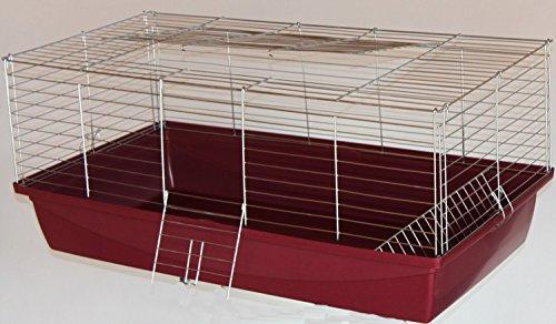 Heimtiercenter Nagerkäfig,Hasenkäfig,Meerschweinkäfig,Käfig,Rabbit,Zwergkaninchen ca. 100 x 54 x 43 cm rot…