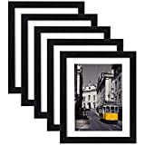 eletecpro 11X14 Picture Frames Set of 5,Display 8x10 or 8.5x11 Photo Frame with Mat or 8x10 Without Mat,Wall Gallery Photo Frames,Table Top Display or Wall Mounting